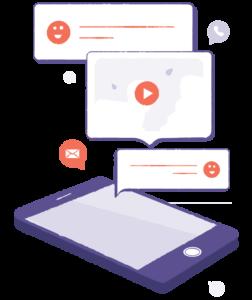 un smartphone recevant plusieurs notifications de mail, de réseaux sociaux etc